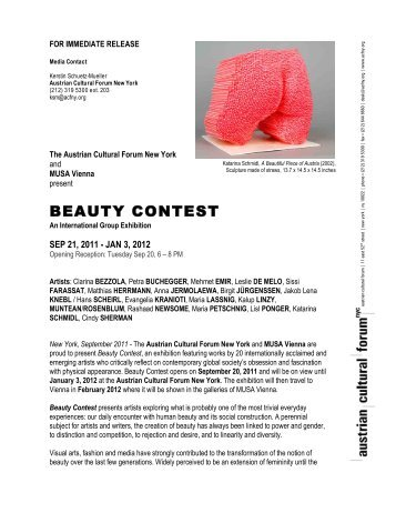 BEAUTY CONTEST - Austrian Cultural Forum
