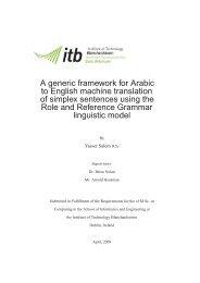 A generic framework for Arabic to English machine ... - Acsu Buffalo