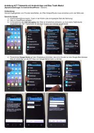 Anleitung ACT Telemetrie mit Android App und Blue ... - ACT europe