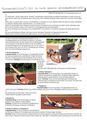 stabiliteitsoefeningen rug