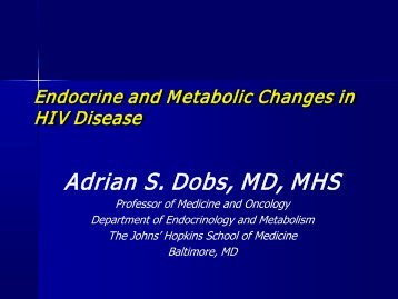Metabolic Changes in HIV-Infections - ACTHIV Conference