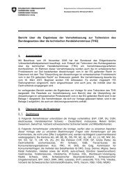 Bericht über die Ergebnisse der Vernehmlassung zur ... - admin.ch