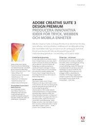 Design Premium Faktablad (PDF, 415K) - Adobe