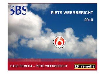 Piets Weerbericht remeha-piets-weerbericht - Adverteren bij SBS