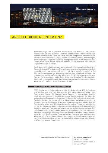 Neue Bilder vom Menschen - Ars Electronica Center