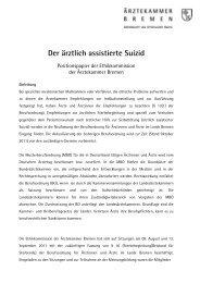 Der ärztlich assistierte Suizid - Ärztekammer Bremen
