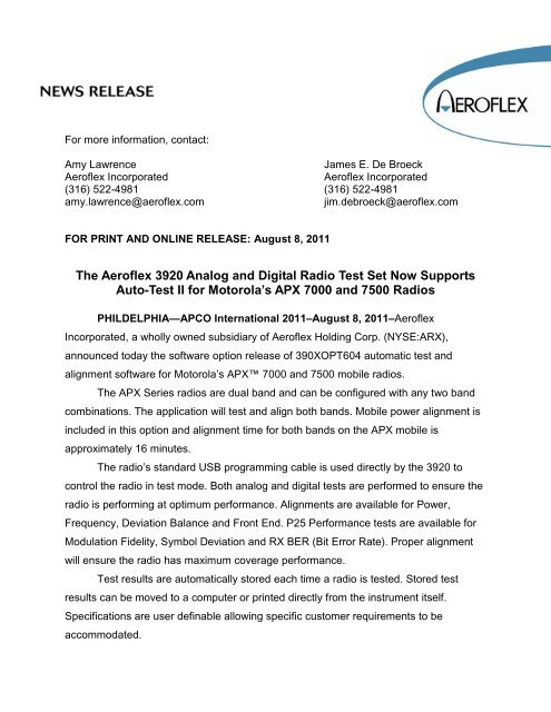 The Aeroflex 3920 Analog and Digital Radio Test Set Now