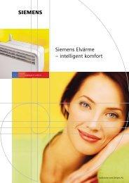 Siemens Elvärme – intelligent komfort