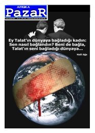 Ey Talat'ın dünyaya bağladığı kadın: Sen nasıl ... - Afrika Gazetesi