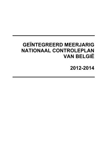 MANCP van België (2012-2014) - Favv