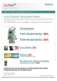 Tachymeter: Ts02-Modell-Reihe -30% Ts06-Modell-Reihe - Arctron