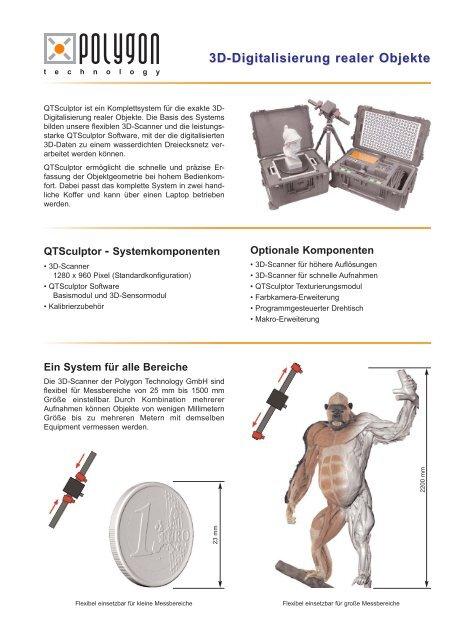 3d-Digitalisierung realer Objekte - Arctron