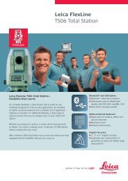 Leica Flexline TS06 Total Station - Leica Geosystems