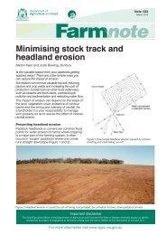 Minimising stock track and headland erosion - Department of ...