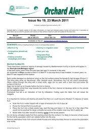 Orchard Alert 19 (23 March 2011) - Agric.wa.gov.au