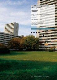 Konfliktmanagement im Wohnquartier - AHB - Berner Fachhochschule