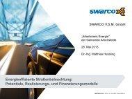 Präsentation SWARCO vom 28.05.2013 - Gemeinde Ahrensfelde