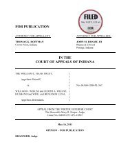 The William C. Haak Trust v. William J. Wilusz and ... - State of Indiana