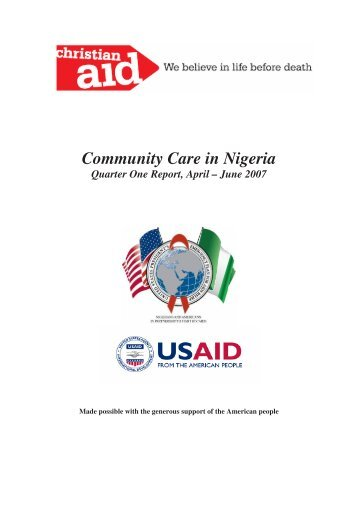 CCN Quarter One Report April-June 2007 - AIDSTAR-One