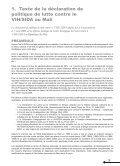 Haut Conseil National De Lutte Contre Le VIH/Sisa - AIDSTAR-One - Page 6