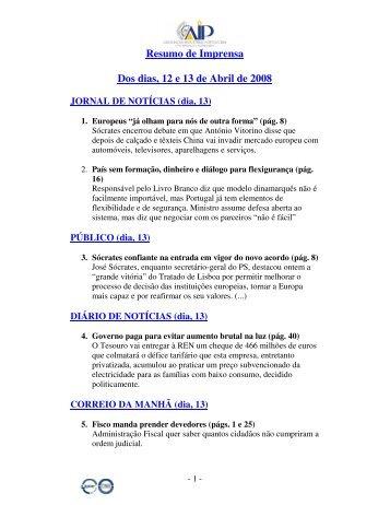 Resumo de Imprensa dias 12 e 13 Abr.pdf - AIP