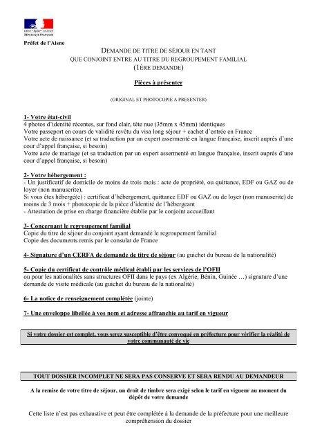 Demande De Titre De Sejour En Tant Qu Etudiant Prefecture De L Aisne