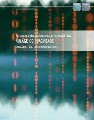 Forskningsinfrastrukturerna på nationell nivå - nuläge och vägvisare