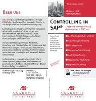 Controlling in SAP® - AH Akademie für Fortbildung Heidelberg GmbH