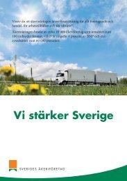 Vi stärker Sverige - Sveriges Åkeriföretag