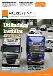 ÅkeriSydNytt nr 2, 2013 - Sveriges Åkeriföretag
