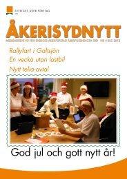 ÅkeriSydNytt nr 4, 2012 - Sveriges Åkeriföretag