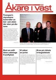 Åkare i väst nr 2, 2011 - Sveriges Åkeriföretag