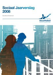 Sociaal Jaarverslag 2008 - AkzoNobel