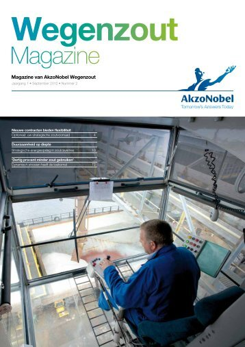 Wegenzout Magazine, editie 2 - september 2012 - AkzoNobel