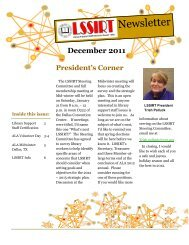 December 2011 newsletter - American Library Association