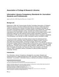 Information Literacy Competency Standards for Journalism Students