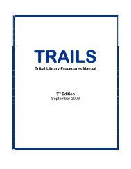 Tribal Library Procedures Manual 3 Edition September 2008