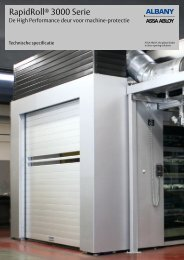 RapidRoll ® 3000 machine-protectie - Albany Door Systems