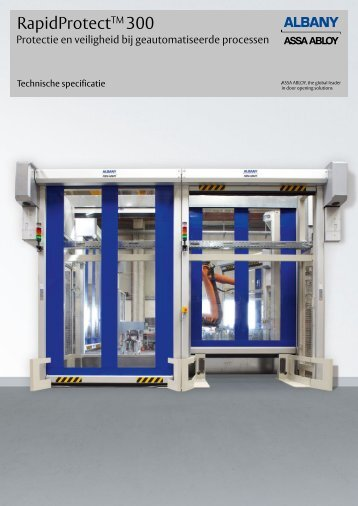 RapidProtect TM 300 machinebeveiliging - Albany Door Systems