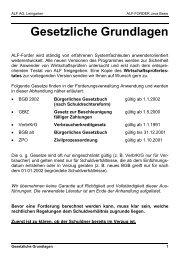 Gesetzliche Grundlagen - ALF AG