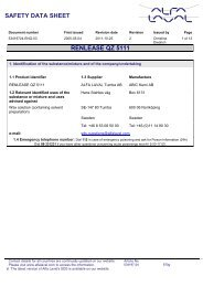 SAFETY DATA SHEET RENLEASE QZ 5111 - Alfa Laval