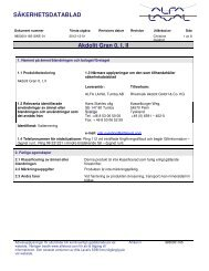 SÄKERHETSDATABLAD Akdolit Gran 0, I, II - Alfa Laval