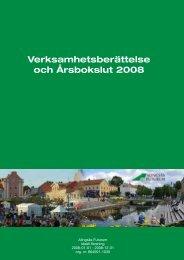 Verksamhetsberättelse och Årsbokslut 2008 - Alingsås kommun