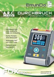 Emundo® Informationsbroschüre (PDF) - ARC Laser