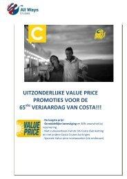 uitzonderlijke value price promoties voor de 65 verjaardag ... - Ways
