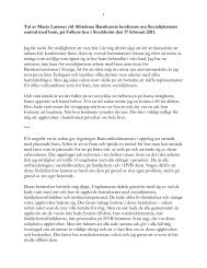 Ralav Maria Larsson vid Allmänna Barnhusets konfeens om samtal ...