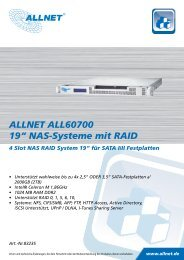 "ALLNET ALL60700 19"" NAS-Systeme mit RAID"