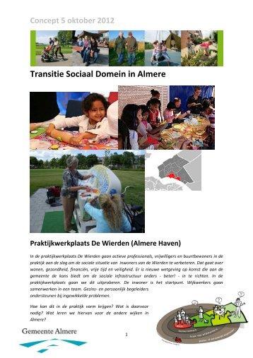Procesplan praktijkwerkplaats Almere Haven - Gemeente Almere