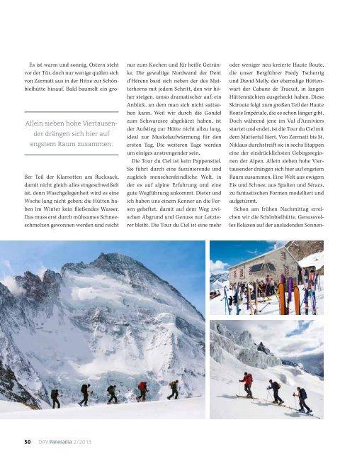 Panorama 2 2013 Unterwegs: Tour du Ciel Skihochtour