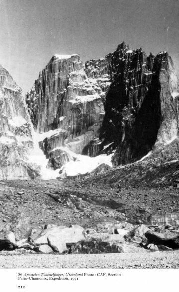 6 Apostelen Tommeljinger, Greenland Photo: CAF ... - Alpine Journal